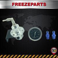Silver Aluminum Adjustable Fuel Pressure Regulator Style Type S With Gauge AU