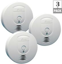 3-Pack Smoke Alarm Detector Fire Battery Operated Wireless Interconnected System