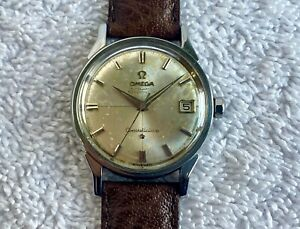 VINTAGE OMEGA 561 CONSTELLATION CHRONOMETER 14902 CROSSHAIR DATE SWISS MADE