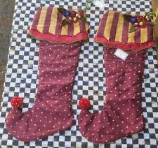 Mackenzie-Childs Marzipan Christmas Stocking **NEW**