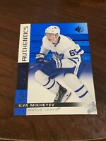 2019-20 Upper Deck SP ILYA MIKHEYEV Maple Leafs ROOKIE AUTHENTICS BLUE PARALLEL