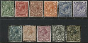 KGV 1912 MacKennal set 1/2d to 8d values inclusive mint o.g. hinged  (41)