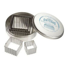 """Ateco Fluted Square Cutters, Stainless Steel, 5 Pc. Set 1-1/8""""?3-1/4"""""""