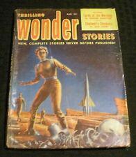 1952 Aug THRILLING WONDER STORIES Pulp Magazine v.40 #3 G/VG 3.0 Skeleton Cover