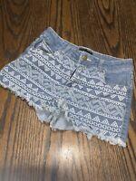 Forever 21 XXI Jean Shorts Pants Womens Aztec Print Summer College US 28 Denim