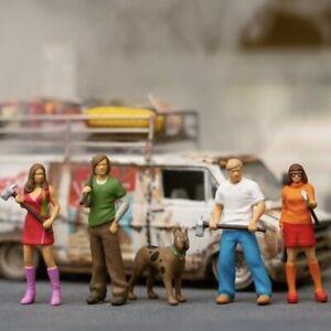 1/64 Scale Miniature Figure Scooby Doo Set Of 5