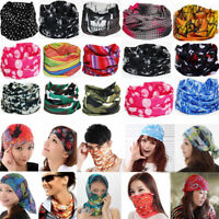 Bandana Tube Scarf Head Face Mask Neck Warmer Snood Camo Skull Multiuse Headwear