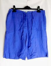 Monsoon Size 10 Ladies Purple Shorts Button Fly Tie Waste Pockets Linen Mix *