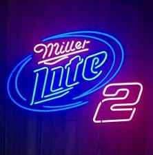 "Miller Lite Nhra #2 Neon Light Sign 24""x20"" Beer Bar Decor Lamp Glass"