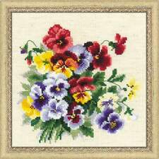 """Counted Cross Stitch Kit RIOLIS - """"Pansy Medley"""""""