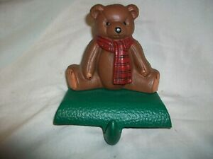 Vintage Cast Iron Teddy Bear Stocking Holder Eddie Bauer Midwest of Cannon Falls