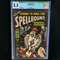 SPELLBOUND #17 (Atlas 1953) 💥 CGC 5.5 Qualified 💥 Classic Bill Everett Cover!
