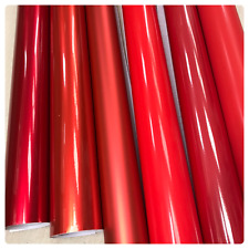 RED Carbon Fiber matte Gloss Vinyl Film Car Wrap DIY Waterproof ( 30cm x 1.52m )