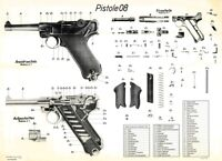 Nice! POSTER Of The German Nazi PO8 LUGER Pistol WW2 Pistole LQQK & BUY NOW!