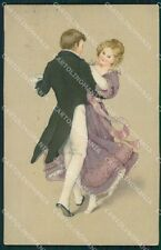 Dancing Couple Dondorf serie 330 postcard cartolina QT6395