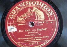 78rpm BERLIN PHILHARMONIC - MELICHAR der kalif von bagdad . 1&2