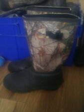Size 12 Scent Free Insulated Camo Wellies / Boots Worn Once