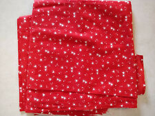 Lot 660 Fabric, 1.66 Yards, Hearts on Red, Looks Like Quilting Cotton
