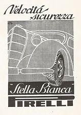 W9654 Pneumatici Stella Bianca PIRELLI - Pubblicità del 1936 - Old advertising