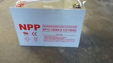 12V 12 Volt 100AH Maintenance Free Sealed AGM Battery Marine 31 Golf Cart