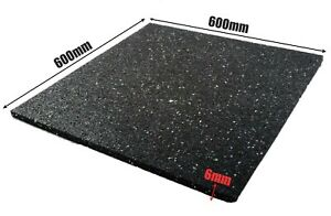Anti Vibration Noise Reducing Rubber Mat Washing Machine 600 x 600mm X 6MM