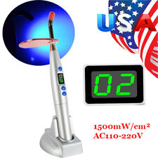 2021 Dental 10w 2000mw Wireless Cordless Led Curing Light Lamp Silver Dentist Us