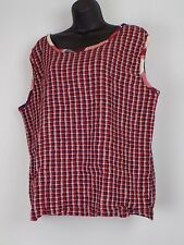 North Crest 26W/28W Red White & Blue Tank top stretchy fabric