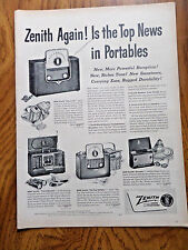 1950 Zenith Portable Radios Ad Is the Top News in Portables