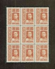 Thailand stamps, 1917 block of 9. mnh