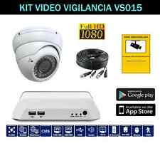 KIT VIDEO VIGILANCIA CCTV 1 CAMARA DOMO ZOOM VARIFOCAL SONY EFFIO 700 TVL VS015