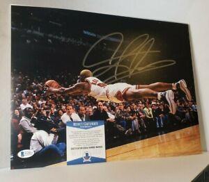 Flying ~ Dennis Rodman ~ Chicago Bulls Basketball 11x14 Photo Poster Beckett COA