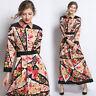 2019 Spring Summer Fall Floral Print Crew Neck Empire Waist Women Party Dresses