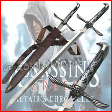 NEW Assassin Creed Video Game Altair Medieval Majestic Sword Dagger Belt Sheath