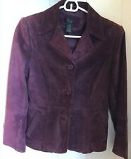 Frenchi / Nordstrom Suede Leather Blazer Size Small