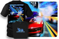 Wicked Metal Corvette Shirt - Light up the Night - Corvette C5,c6 - Black