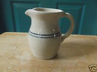 Pete Payne Pottery Tan with Blue Stripe Creamer or Pitcher
