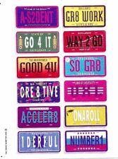 Vintage Hallmark Reward Stickers - License Plates from 1992 - 1 Full Sheet