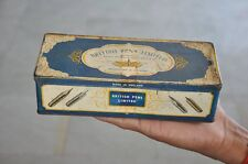 Vintage British Pens Limited Ad Litho Tin Box , London