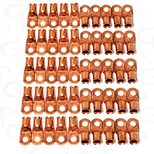 (50) 1/0 AWG GAUGE Copper Lugs MADE IN THE USA UL Listed Ring Terminals