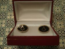 Superb,Finely Crafted, Enamel & Gold: Masonic Design; 18CT Gold Plated Cufflinks