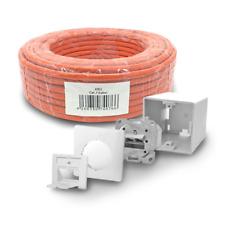 Cat 7 Verlegekabel 100m Netzwerkkabel 6x Netzwerkdose Cat6a Dose Lan S/FTP Kabel