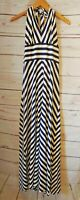 Banana Republic Navy Knit Striped Casual Patio Dress Women's Size Small Maxi