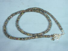 BUTW  Naturally Dazzling Andamooka opal faceted rhondell beads 5 mm 9859A dl
