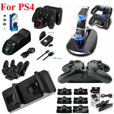 Dual USB Charger LED Station Dock Fast Charging Stand For Sony PS4 Controller