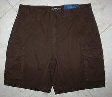 NWT Men's CROFT & BARROW Relaxed-Fit Classic Twill Cargo Shorts Brown - 30