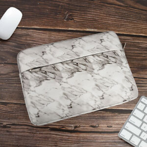 """PU Marble Laptop Bag Case Soft Sleeve Pouch For 13"""" 14"""" 15"""" Macbook Pro Notebook"""