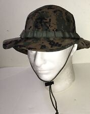 USMC US MARINES ISSUE COVER BOONIE HAT DIGITAL MARPAT WOODLAND SZ SMALL NEW