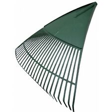 True Temper Laubrechen 24 Zinken 60cm PVC Kunststoff grün mit Holz-Stiel Neu