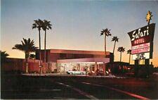 Autos Marquee 1950s Safari Hotel Scottsdale Arizona Night Postcard 20-11903
