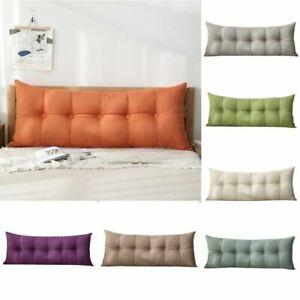 1PC Headboard Pillow Wedding Lumbar Pillow Headrest Bedside Cushion Wedge Pillow